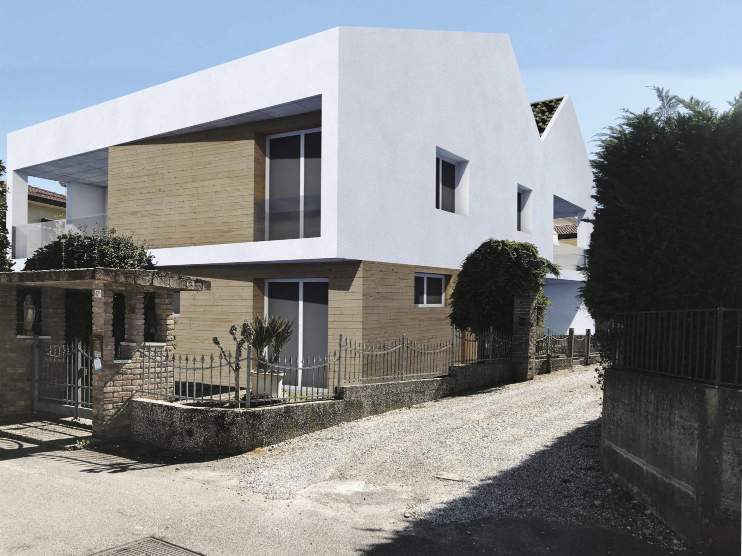 Progetto di ristrutturazione ed ampliamento trasformando una casa singola in trifamiliare a Vigonovo, Venezia