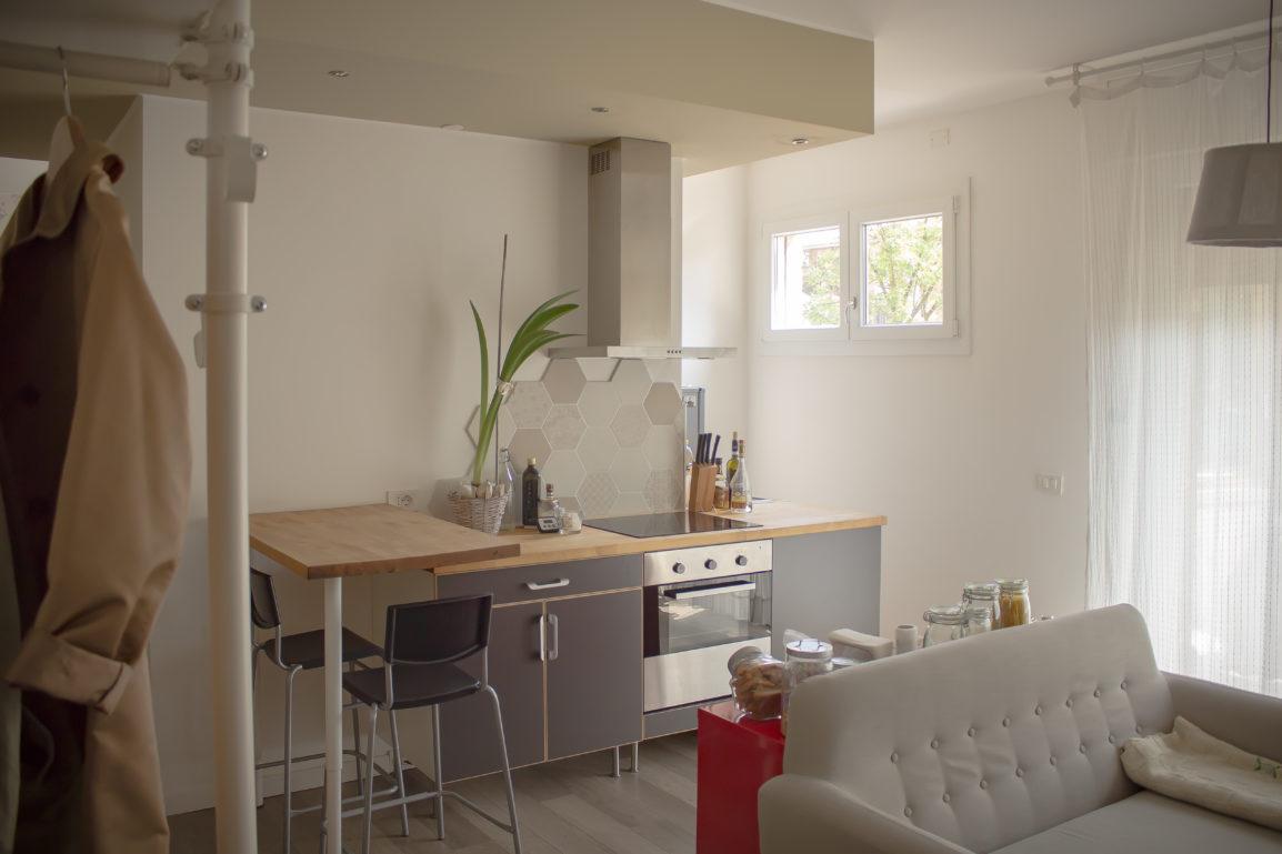 ristrutturazione di un appartamento alla guizza, padova, con trasformazione in un piccolo loft